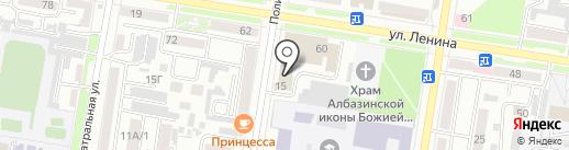 Российская автомобильная федерация на карте Благовещенска