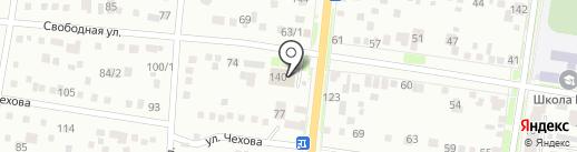 Банно-прачечные услуги, МП на карте Благовещенска