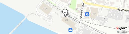 Речной вокзал на карте Благовещенска