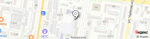 Учебно-курсовой комбинат на карте Благовещенска