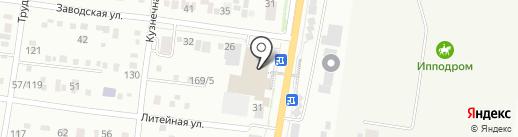 Каскад на карте Благовещенска