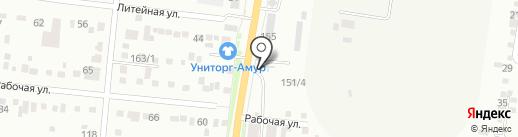 Amigos на карте Благовещенска