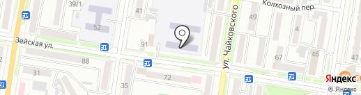 Средняя общеобразовательная школа №12 на карте Благовещенска
