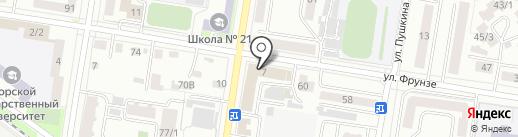КУМА на карте Благовещенска