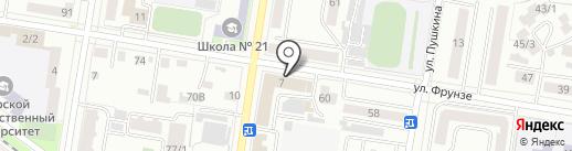 Русский сувенир на карте Благовещенска