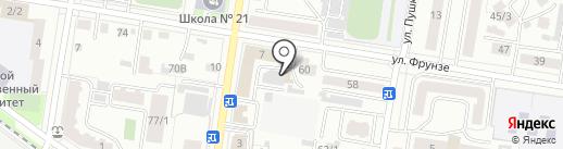 Зодиак на карте Благовещенска