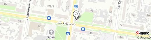 Поликлиника №2 на карте Благовещенска