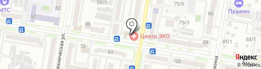 Квадро на карте Благовещенска