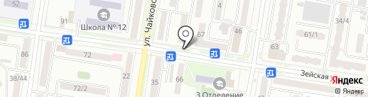 Дизайнерское ателье-студия Ирины Губской на карте Благовещенска