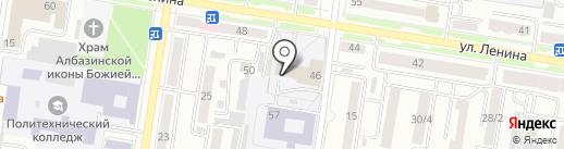 Амурская областная ДЮСШ на карте Благовещенска