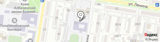 Школа №14 города Благовещенска на карте Благовещенска