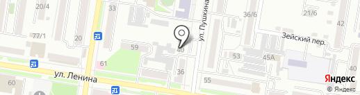 Яблоко на карте Благовещенска