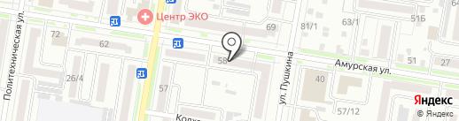 Банкомат, Россельхозбанк на карте Благовещенска