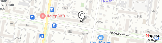 Аквамарин на карте Благовещенска