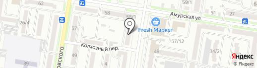 Амурское региональное бюро переводов на карте Благовещенска