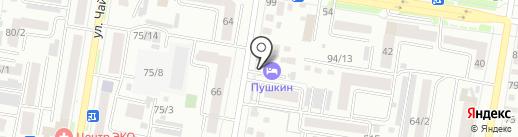 Пушкин на карте Благовещенска