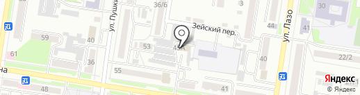 Прокуратура г. Благовещенска на карте Благовещенска