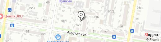 Идеал на карте Благовещенска
