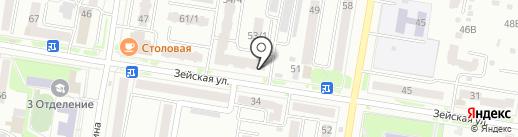 Адвокатский кабинет Каюкаловой Е.В. и Побойникова Ю.Н. на карте Благовещенска