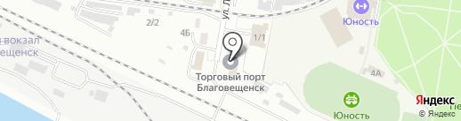 Руста-брокер на карте Благовещенска