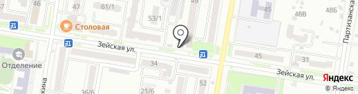 Эздел на карте Благовещенска
