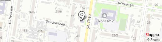 Музыкальная школа на карте Благовещенска