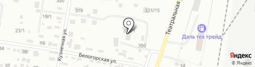 Атлас на карте Благовещенска