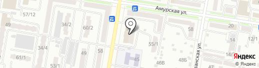 Абриколь на карте Благовещенска