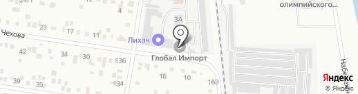 Престиж-строй на карте Благовещенска