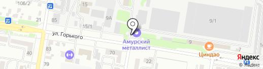 Улыбка на Горького 9 на карте Благовещенска