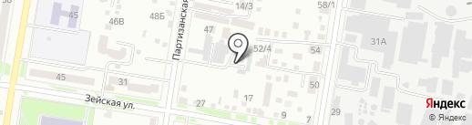 Амурсервис на карте Благовещенска