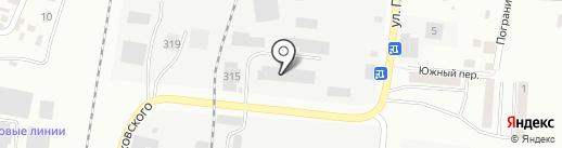 Лайн на карте Благовещенска