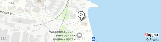 Амурский двор на карте Благовещенска