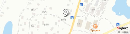 Энтек на карте Якутска