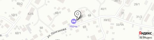 НОЧЬ на карте Якутска