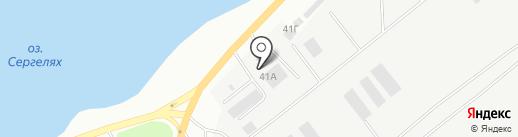 Пожарная часть №5 на карте Якутска