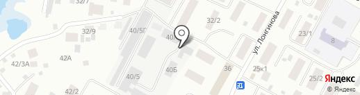 Меридиан на карте Якутска