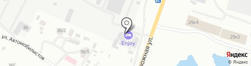 Енжой на карте Якутска