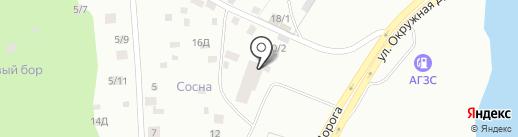 Оранжевый гараж на карте Якутска