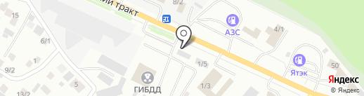 Аллочка на карте Якутска
