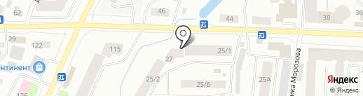 Daniela на карте Якутска