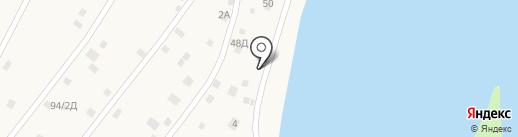 Пляжный на карте Пригородного