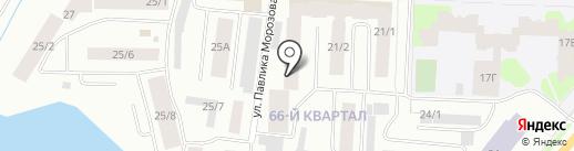 Ус Кут на карте Якутска