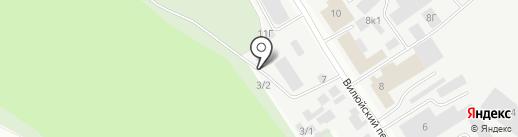 Вилюйское кладбище на карте Якутска