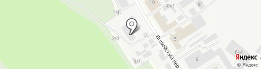 Осирис на карте Якутска