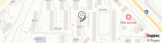 Байарр на карте Якутска
