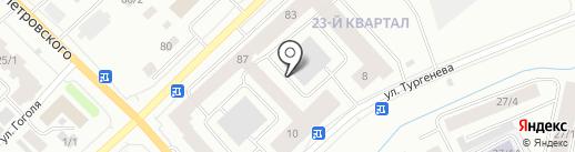 Интерио на карте Якутска