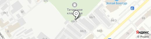 Корпорация на карте Якутска