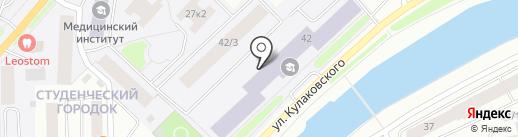 Научно-исследовательский институт А.Е. Кулаковского на карте Якутска
