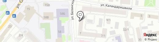 Аврора на карте Якутска